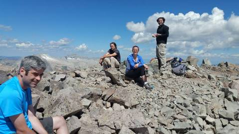 My hiking buddies for the day: Dan far left, Oleg, Cheryl and Josh.